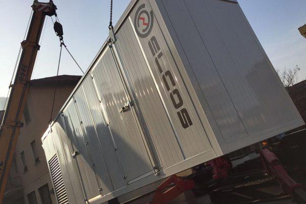 GE da 400 KVA 55 dBA per installazione su tetto