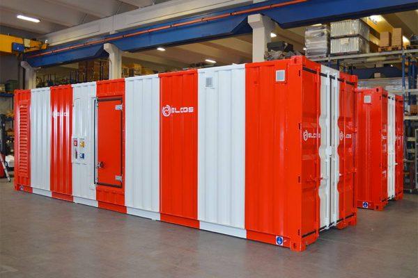 Container 1700 KVA con verniciatura per areoporto