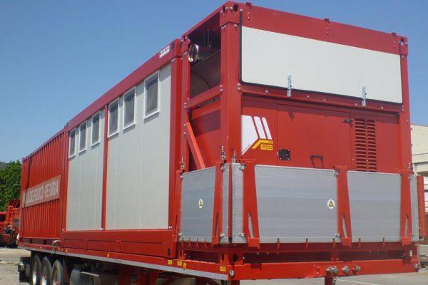 GE SS 60kva custom bordo camion per vigili del fuoco