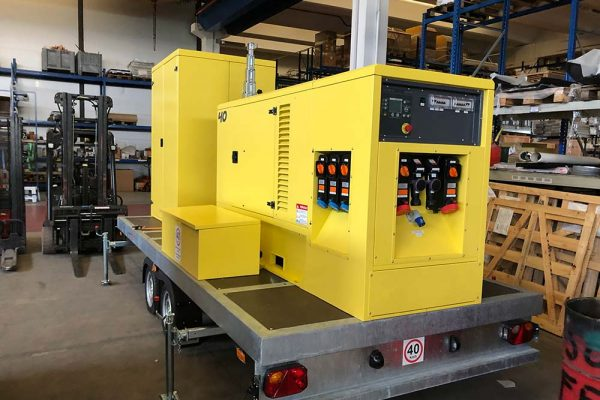 Light Tower on Custom ATEX approved trolley