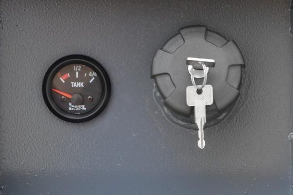 with key lock and analog fuel indicator
